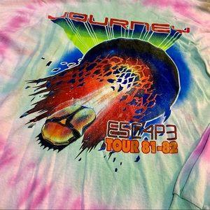 JOURNEY Escape Concert Tie-Dye T-Shirt New Large